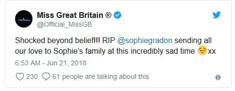 Miss Grã-Bretanha (Foto: Twitter)
