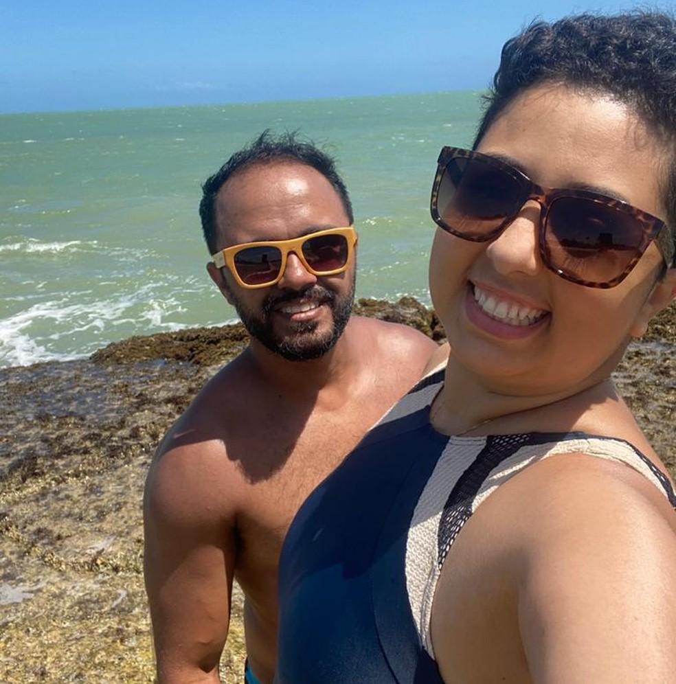 Catia e Luis estavam juntos há quatro anos.  — Foto: Luis Ricardo de Oliveira dos Santos/Arquivo Pessoal.