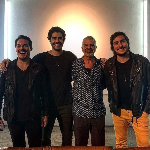 Guga Guizelini, Dudu Linhares, Lulu Santos e Pedro Almeida (Foto: Manuela Freitas/Divulgação)