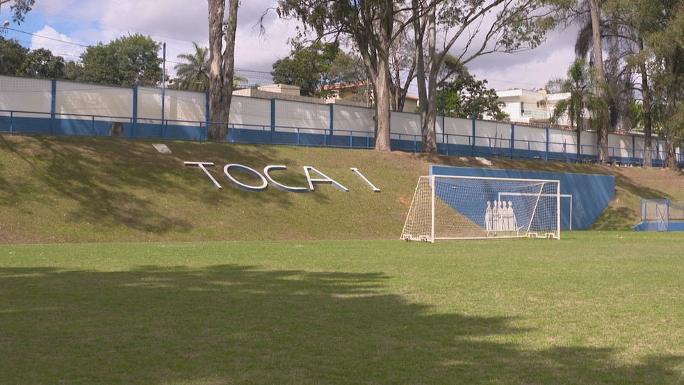 Toca da Raposa 1, onde Ronaldo treinava e chegou a morar nos tempos de Cruzeiro — Foto: Reprodução / Globo Minas