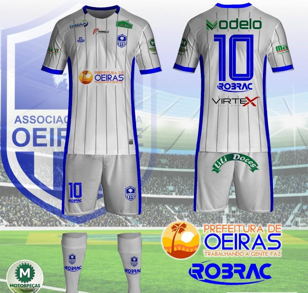 Uniforme 2 Oeirense Série B — Foto: Reprodução