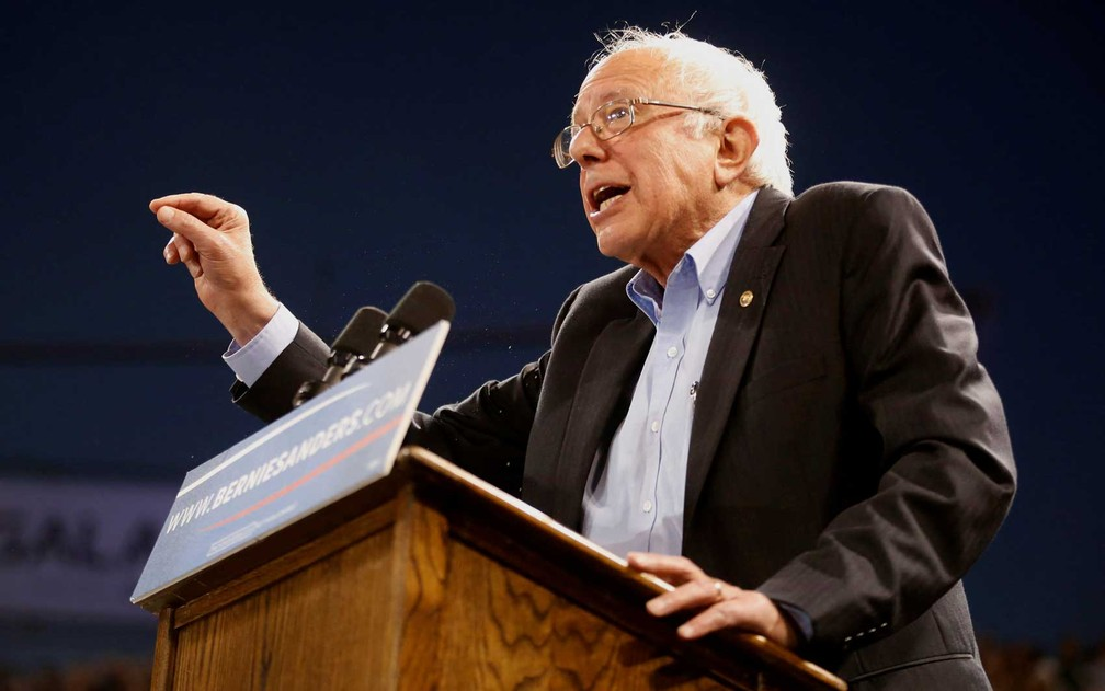 O pré-candidato democrata Bernie Sanders — Foto: Lucy Nicholson / Reuters