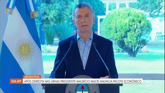 Após derrota nas urnas, presidente da Argentina anuncia pacote econômico
