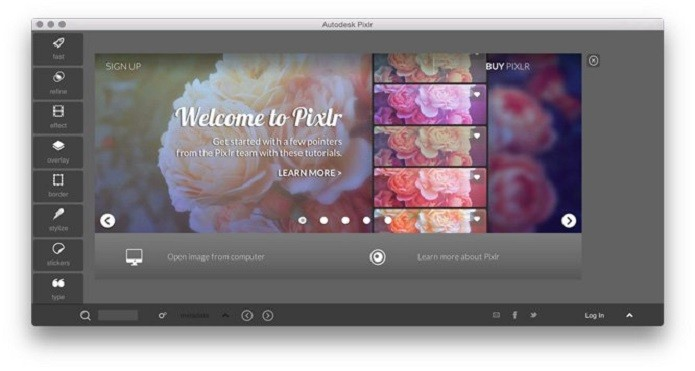 Autodesk Pixlr é ume editor de imagens gratuito disponível para Mac (Foto: Divulgação)