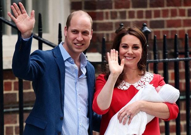 O príncipe William, Kate Middleton e o príncipe Louis (Foto: Getty Images)