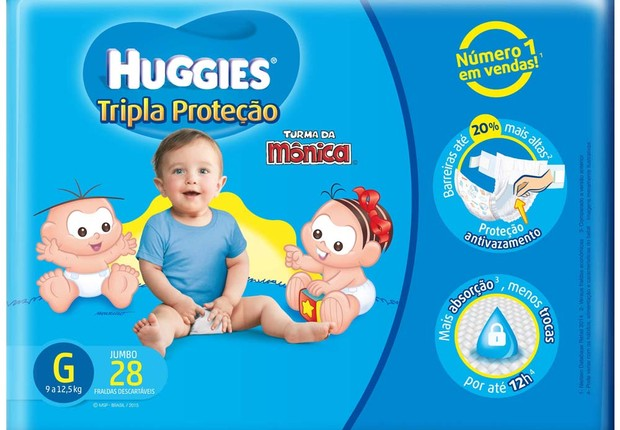 Fralda Huggies Turma da Monica Tripla Proteção, com vendas suspensas pela Anvisa (Foto: Divulgação)