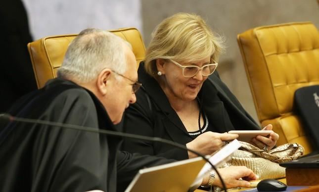 A ministra Rosa Weber e o ministro Fachin