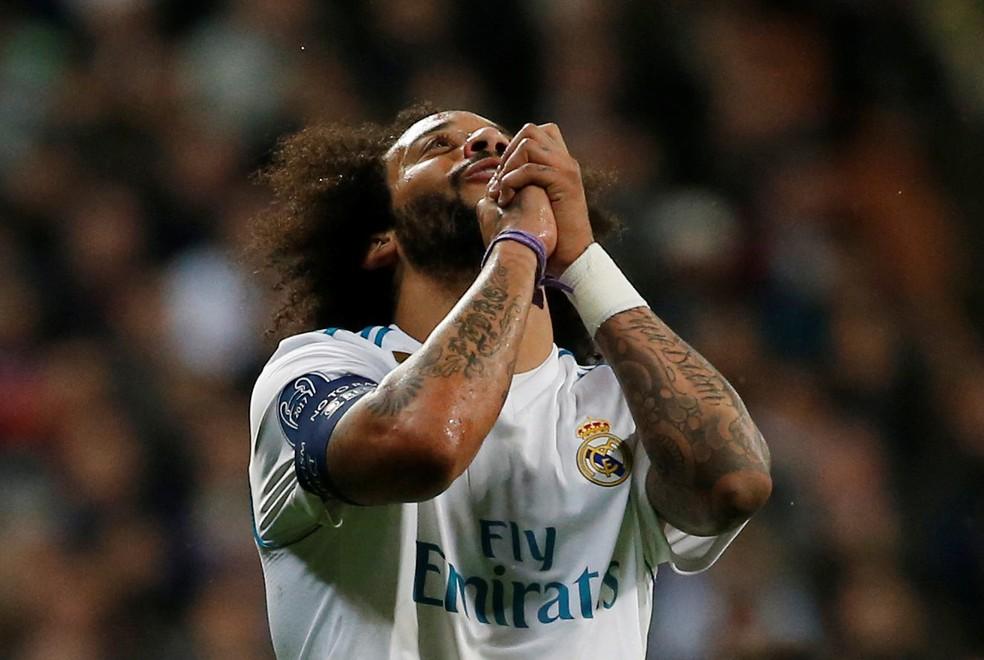 Após a lesão de Daniel Alves, Marcelo é o único lateral já garantido na lista (Foto: Michael Oliver/Reuters)