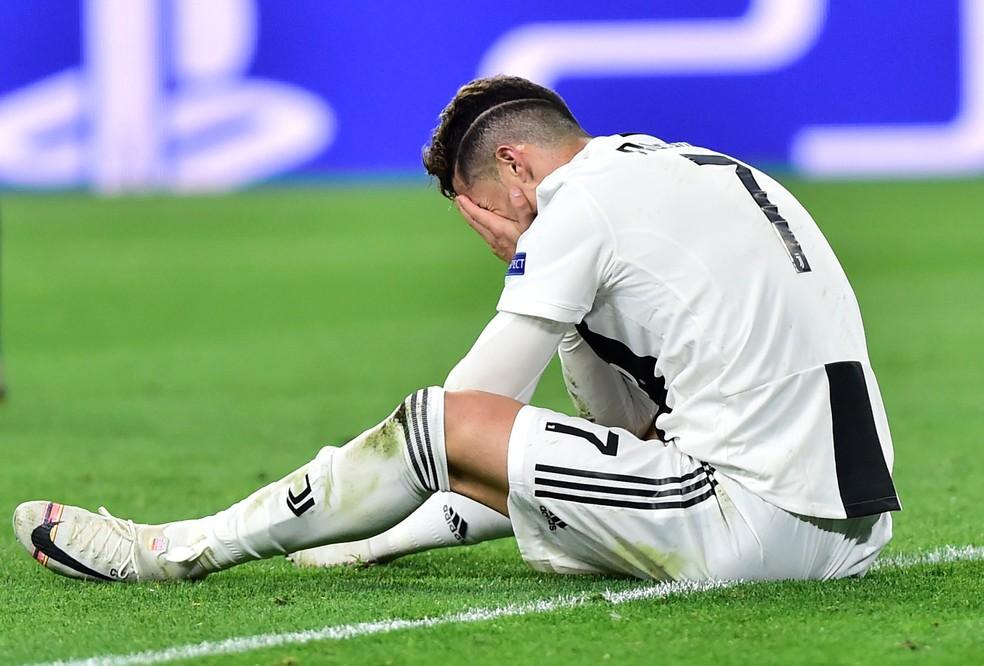 Cristiano Ronaldo Juventus Ajax Liga dos Campeões — Foto: Massimo Pinca/Reuters