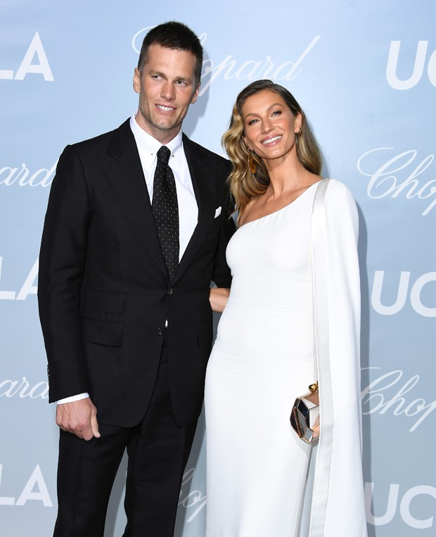 LOS ANGELES, CALIFORNIA - FEBRUARY 21: (L-R) Tom Brady and Gisele Bündchen attends the 2019 Hollywood For Science Gala at Private Residence on February 21, 2019 in Los Angeles, California. (Photo by Steve Granitz/WireImage) (Foto: WireImage)