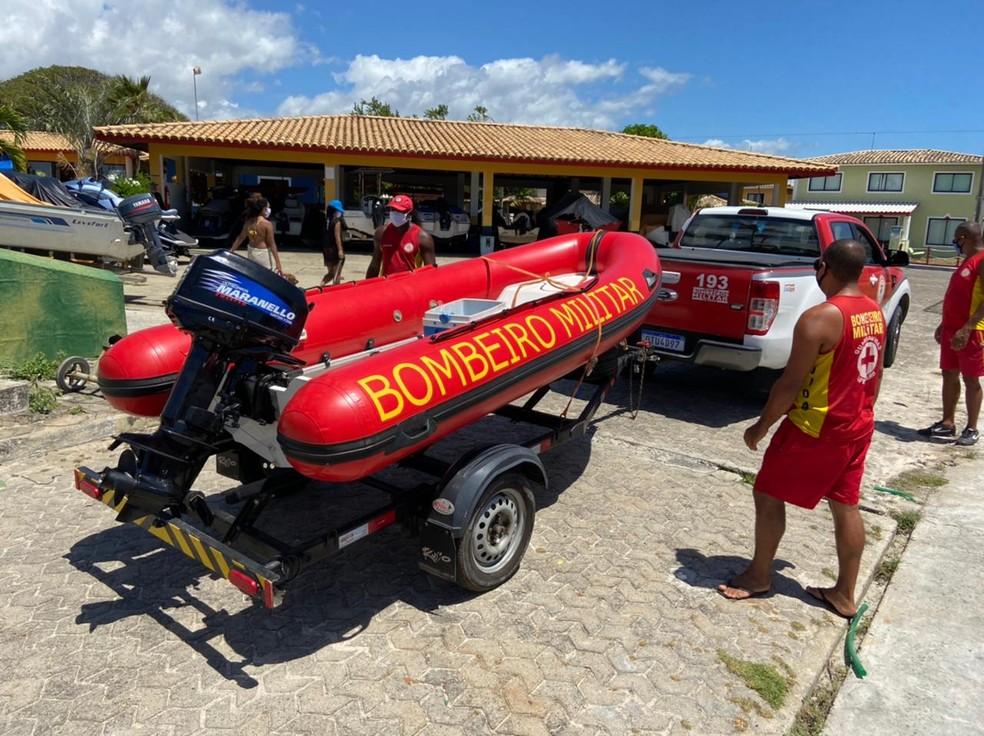 Adolescente desaparece após se afogar em mar de Camaçari; bombeiros realizam buscas — Foto: Divulgação/Corpo de Bombeiros Militar da Bahia