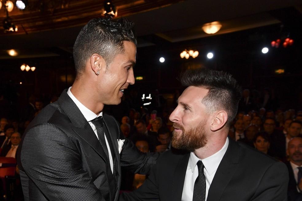 Lendas aprovam o fim do domínio de Cristiano Ronaldo e Messi (Foto: AFP)