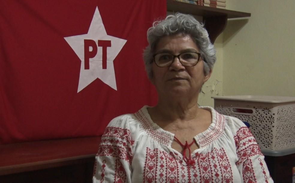 Professora Lilian, candidata do PT em Guajará-Mirim — Foto: Reprodução/Rede Amazônica