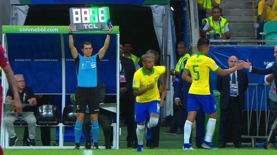 """""""Ahm?"""" Reação de Galvão Bueno a entrada de Fernandinho viraliza nas redes sociais"""