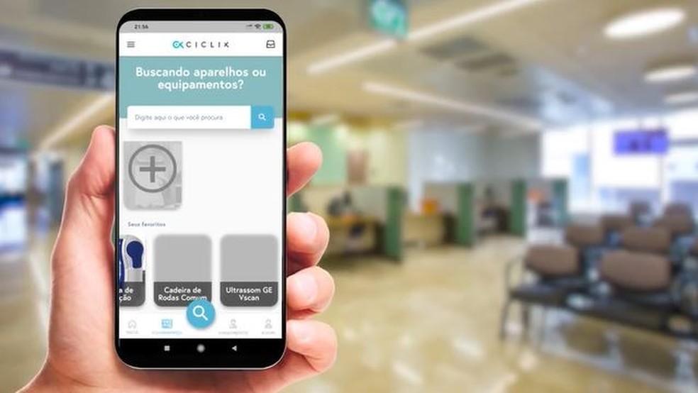 Aplicativo desenvolvido para a área hospitalar — Foto: Reprodução/ NSC TV