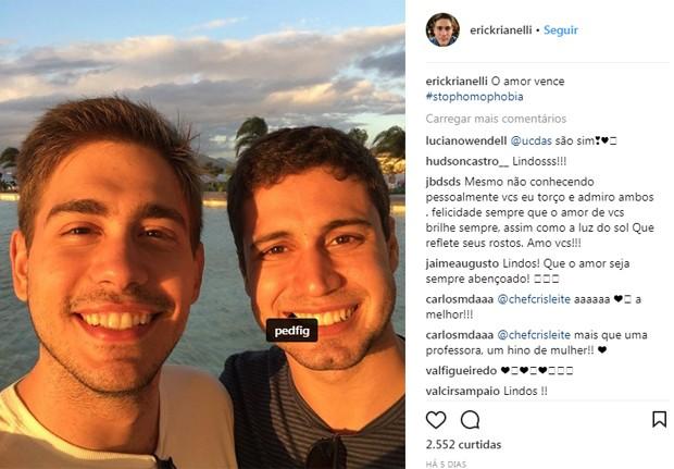Pedro Figueiredo e Erick Rianelli (Foto: Reprodução)
