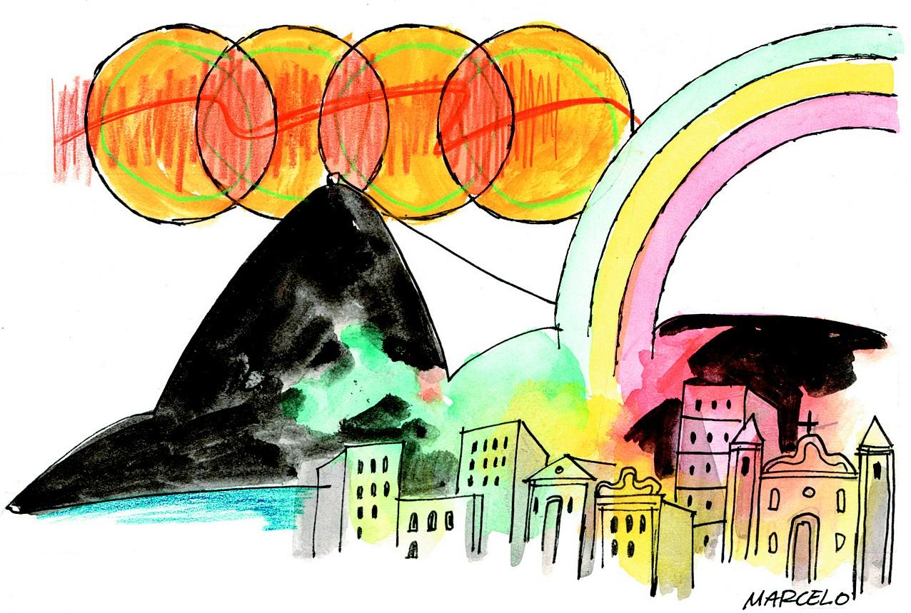 Ilustração para a coluna de Luiz Horta