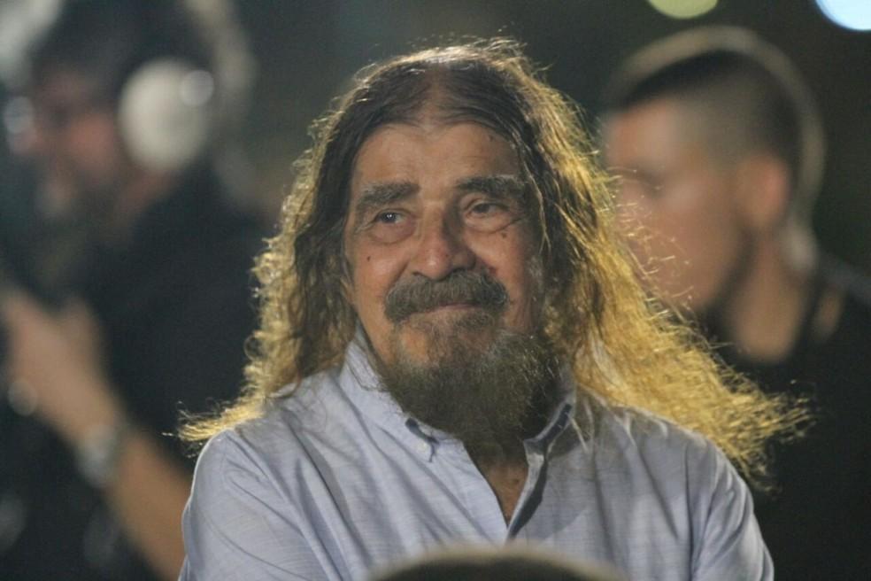 Diretor e produtor do espetáculo, José Pimentel, durante a encenação na qual interpretou Jesus Cristo desde a estreia da montagem, em 1997, até 2017 (Foto: Marlon Costa/Pernambuco Press)