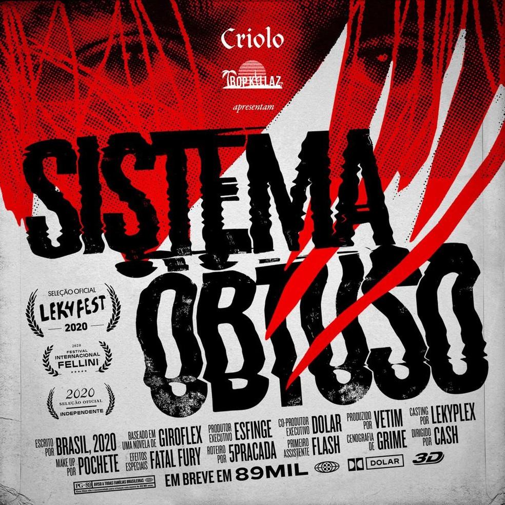 Capa do single 'Sistema obtuso', de Criolo com Tropkillaz — Foto: Divulgação