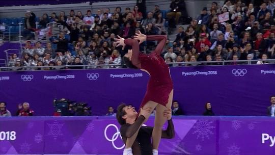 Dupla canadense bate francesa e é ouro na dança no gelo da patinação artística
