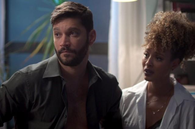 Diogo (Armando Babaioff) e Gisele (Sheron Menezzes) (Foto: TV Globo)