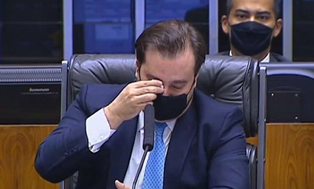 Rodrigo Maia chora ao se despedir da presidência da Câmara