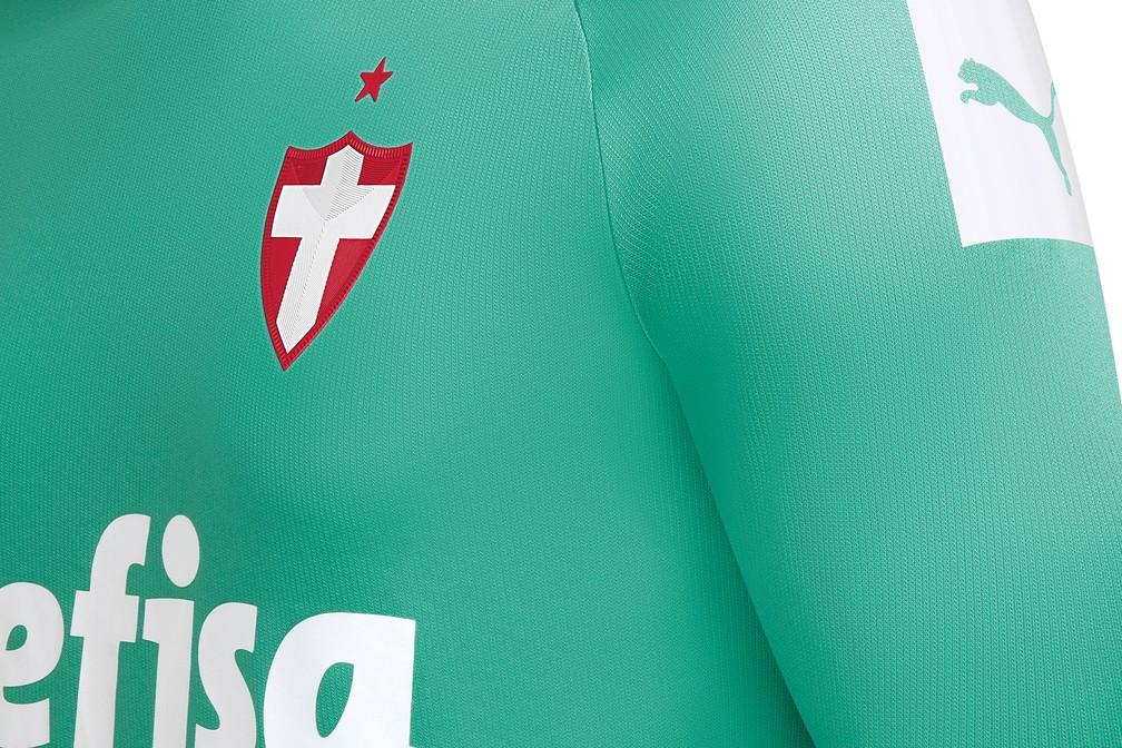 Camisa do Palmeiras terá Cruz de Savoia como escudo — Foto: Divulgação/Palmeiras