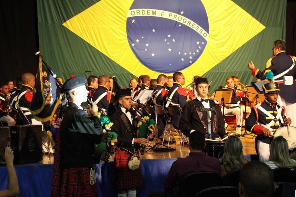 A Banda do Imperador toca em eventos militares, como formaturas, desfiles e bailes.  — Foto: Divulgação/Exército