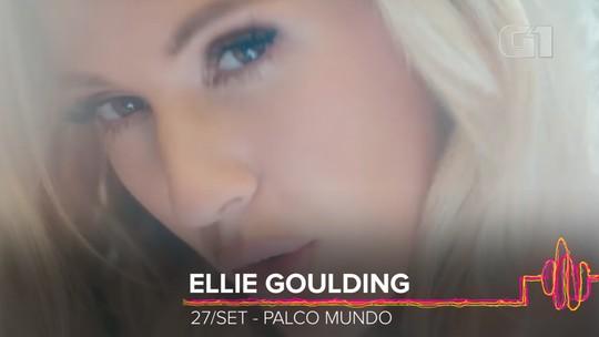 Ellie Goulding substitui Cardi B no Rock in Rio com pop doce para 'ouvir e esquecer de tudo'