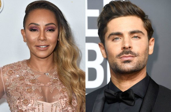 Mel B e Zac Efron (Foto: Getty Images)
