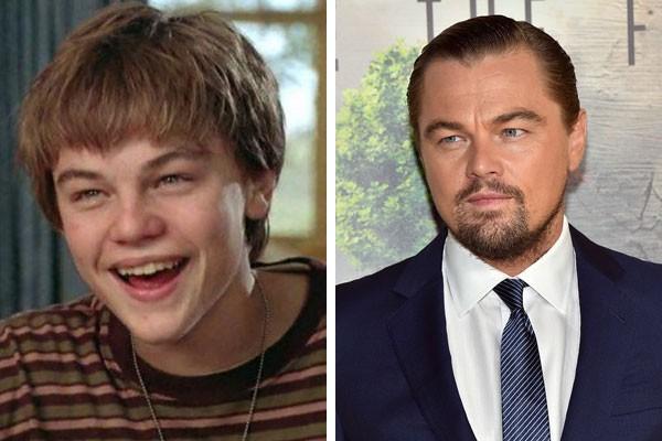 O ator Leonardo DiCaprio na adolescência e hoje (Foto: Reprodução/Getty Images)