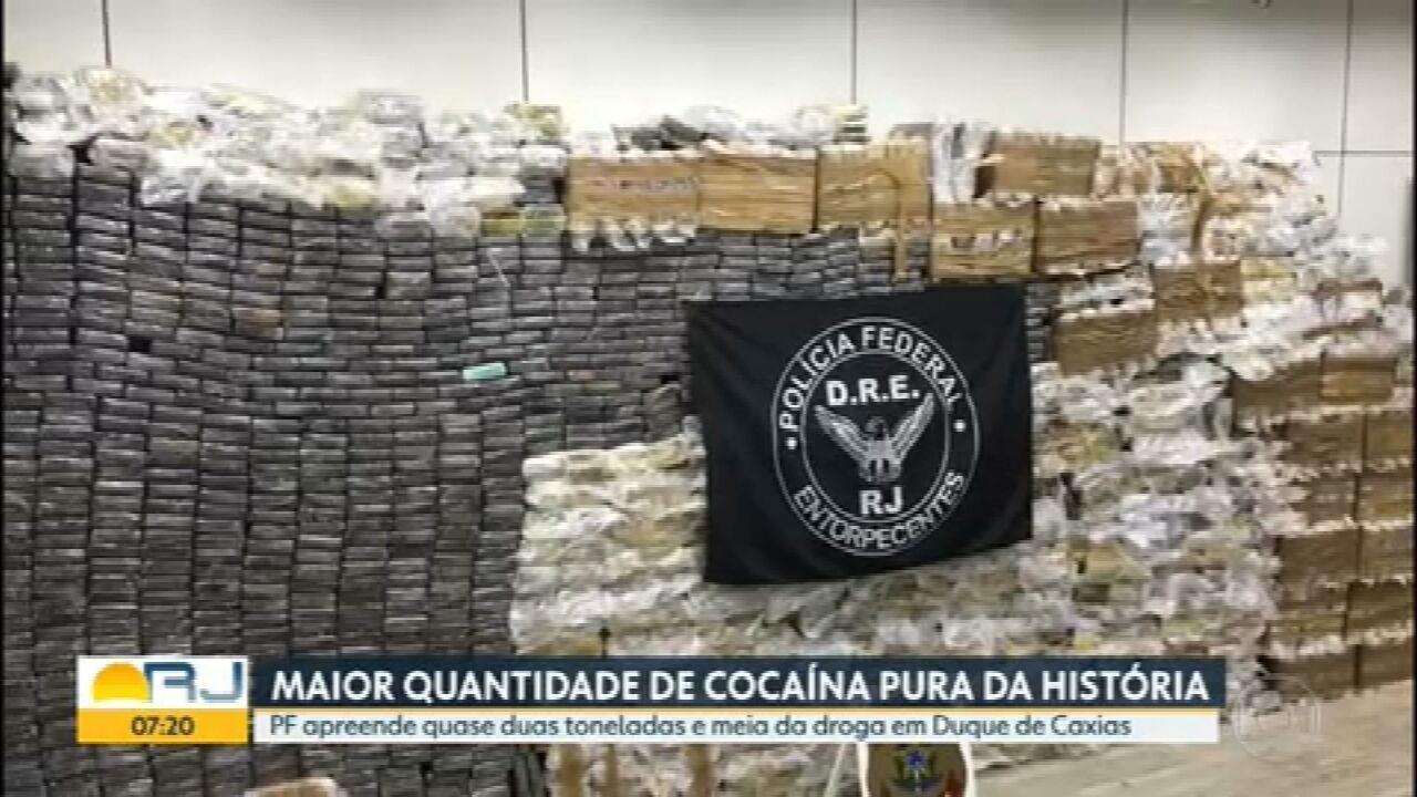 PF apreende 2,5 toneladas de cocaína em Caxias, a maior da história do RJ