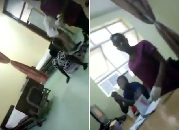 Grávida dá à luz no chão da recepção, enquanto enfermeiras tomam chá (Foto: Reprodução/ Facebook)