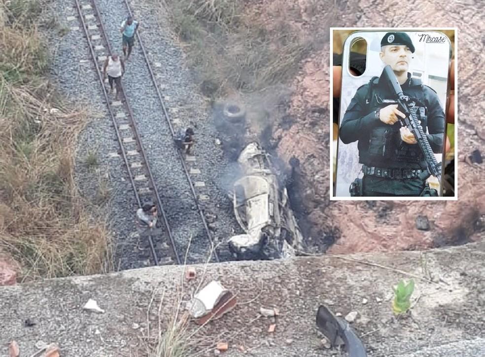 Policial militar morre ao cair de ponte de 30 metros em estrada no Ceará — Foto: Reprodução