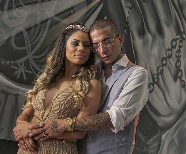 Lexa e Guimê no noivado deles (Foto: Arquivo Pessoal)