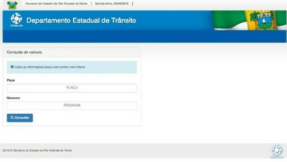 Detran-RN implanta sistema online para pagamento de taxas  (Foto: Reprodução/site do Detran-RN )