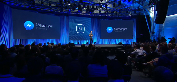 Facebook Messenger Business ? apresentado na f8 2015 (Foto: Reprodu??o/Facebook)