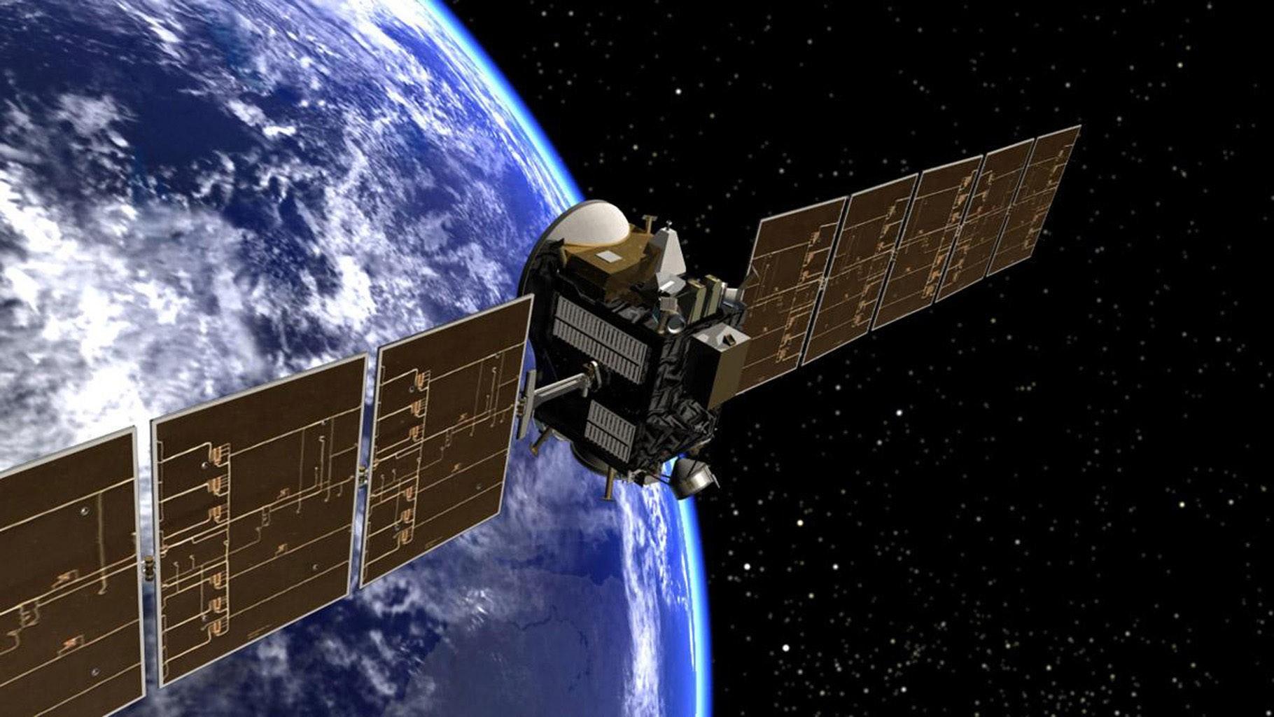 Ilustração representando a sonda Dawn saindo da órbita da Terra (Foto: NASA)