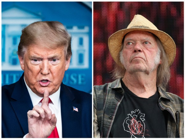 Donald Trump e Neil Young (Foto: Getty Images)