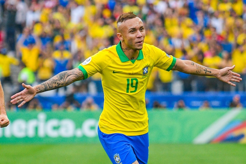 Everton gol Brasil Copa América Peru — Foto: Bob Paulino/BP Filmes