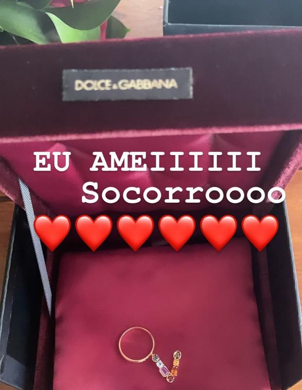 Virginia Fonseca mostra anel que ganhou de Zé Felipe (Foto: Reprodução/Instagram)