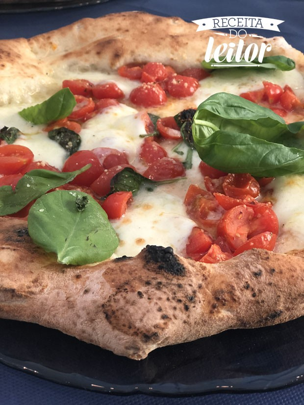 Pizza caseira da leitora Juliana Marcelino  (Foto: Divulgação)