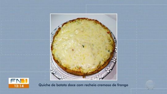 Quiche de Batata-doce com Recheio Cremoso de Frango participa da etapa final do Concurso #Receitando