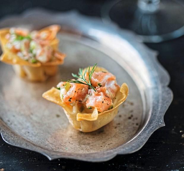 Tartar de salmão em cestinhas de wonton (Foto: StockFood /Great Stock!)