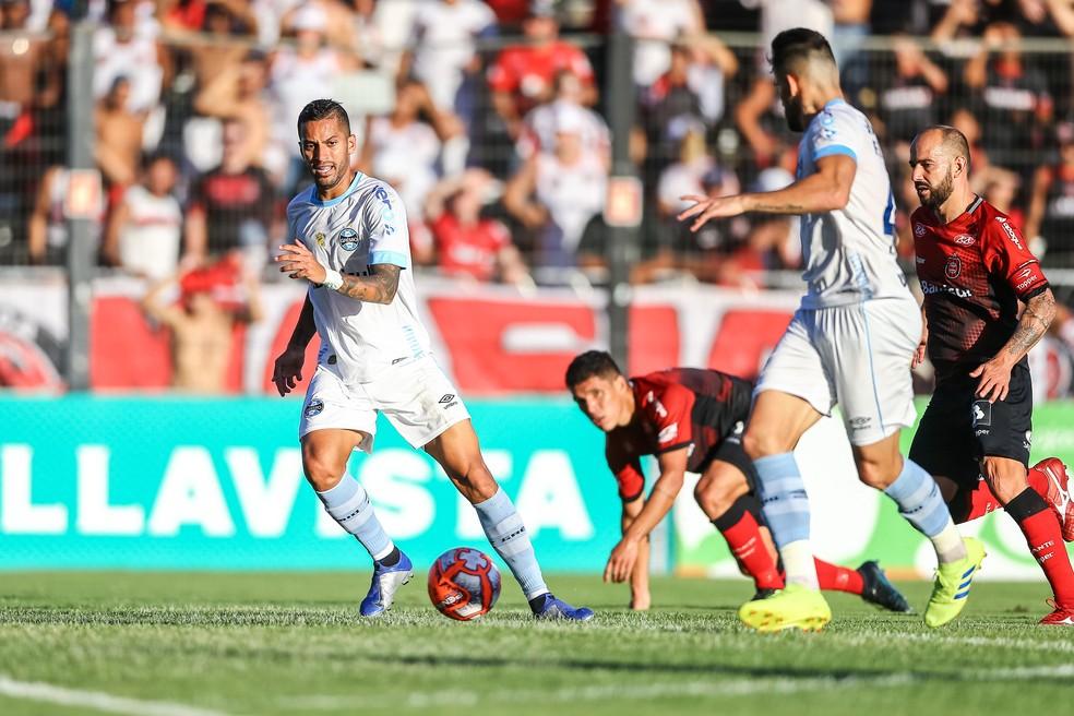 Rômulo tem cinco jogos disputados em 2019 — Foto: Lucas Uebel/Grêmio/Divulgação