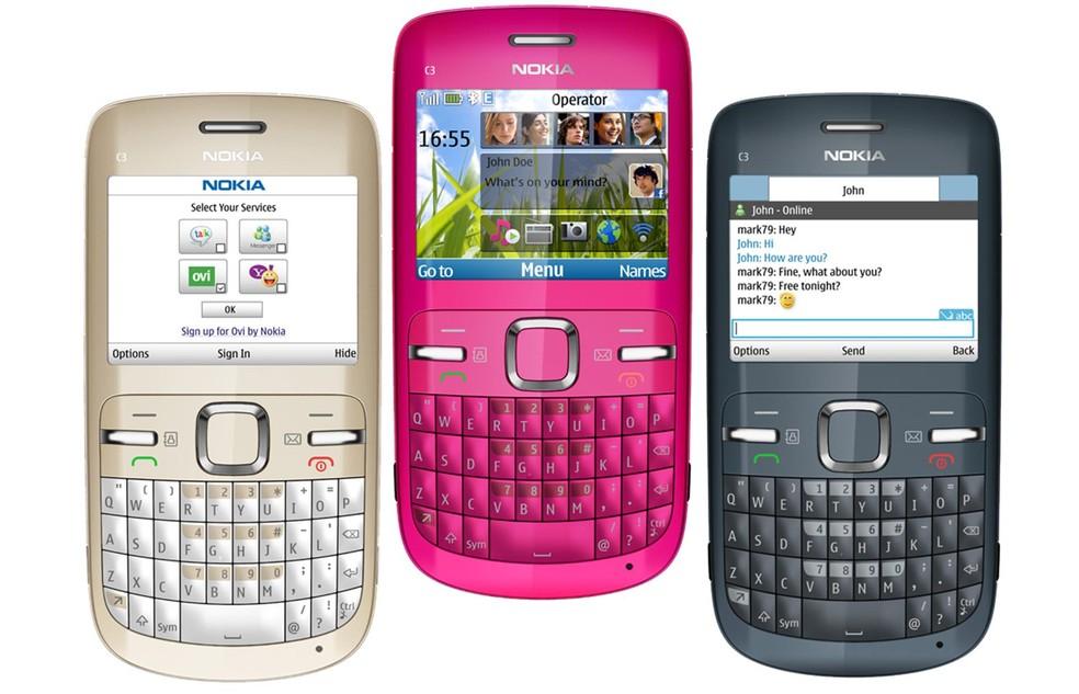 Nokia C3 � Foto: Divulgação