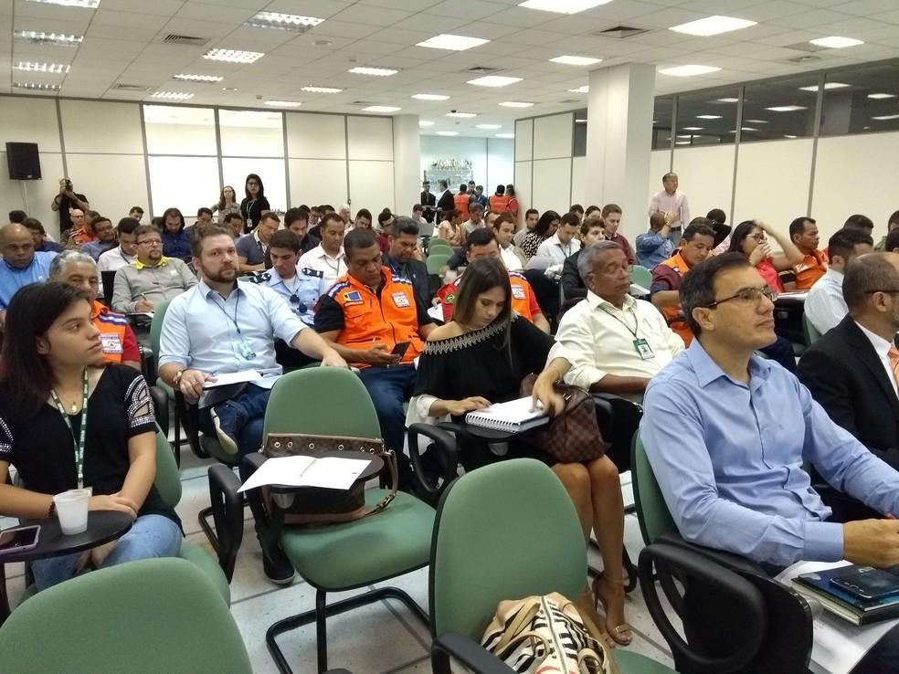 Sipam se reuniu com diversos órgãos em Porto Velho (Foto: Hosana Morais/G1)
