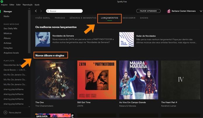 Veja os lançamentos do Spotify (Foto: Reprodução/Barbara Mannara)