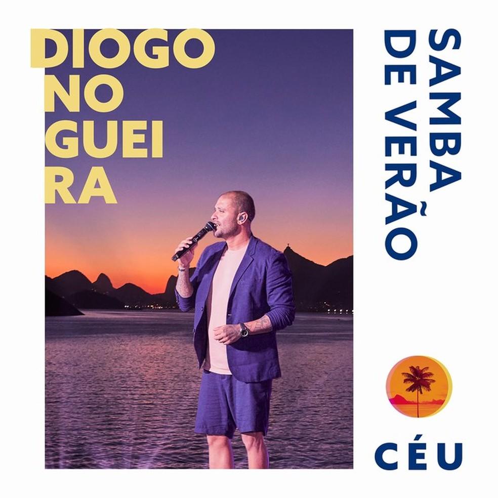 Capa do disco 'Samba de verão – Céu', de Diogo Nogueira — Foto: Guto Costa