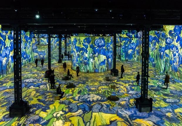 Exposição usa projeções para quadros de Van Gogh (Foto: Culturespaces/E. Spiller)